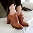 New Women's Lave ups Low-cut shoe Lady Fashion Chunky Heels Mid heels Full Size