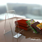 Acrylic Book, Plate, Phone Display Stand Perspex Plastic Retail Cookbook Holder