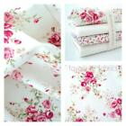 CHLOE - IVORY - 100% COTTON FABRIC FLORAL PINK VINTAGE ROSES QUILTING CLOTHING