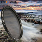 Slim Lens Filter Adjustable Fader Neutral Density ND2 to ND400 For Canon Nikon