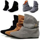 New Women Nubuck/Leather Ankle Boot Ankle Boots Comfortable Flat Heel Boots P39