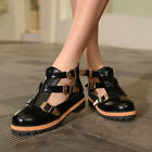 Mary Jane Roma Gladiator Zipped New Womens Buckle T-strap Pumps Shoes Plus Size