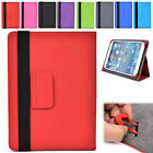 "A NEW Unisex Folding Stand Adjustable PVC Leather Folio Case fits 10.1"" Tablets"