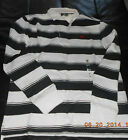 4826J New Timberland  Men's long Sleeve Rugby Stripe Polo Shirt  Navy Size S-2XL