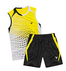 2013 NEW Victor men's table tennis clothing/Badminton Set shirt + shorts 13714A