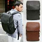 Fashion Womens/Mens PU Leather Backpack Large Capacity Wide Shoulder Strap FP141