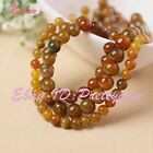 """6mm 8mm 10mm 12mm 14mm Round Cracked Agate Gemstone Beads Jewelry Msking 15"""""""