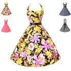 Pinup 40s 60s Vintage Rockabilly Formal Party Swing Retro Evening Cotton Dresses