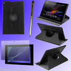 "360 Rotating Case Cover Stand for 10.1"" Sony Xperia Z2 Tablet + Film + Pen F197S"