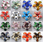 Free Colorful 5Pcs Murano Glass Beadss Fit European Charms Bracelet An1502