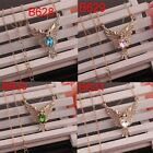 """Hot Women 14K Gold Filled Sapphire Pendant Eagle 18 """"Chain Necklace In 4 Colors"""
