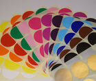 20mm 25mm Round Stock Control Colour Code Dots Blank Stickers Sticky Labels