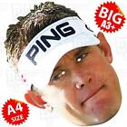 LEE WESTWOOD - BIG Face Mask A3/A4 SIZE- GOLF THE OPEN RYDER CUP McILROY WOODS