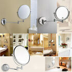 Wall Mounted Extending Folding Double Side Shaving Makeup Mirror Magnifying AU