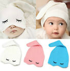 Newborn Boy Girl Baby Bear Ears&Eye Toddlers Beanies Hats Cap Headwear Sleep