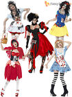 Size 8 -18 Fairytale Horror Zombie Halloween Ladies Fancy Dress Costume Womens