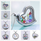 NEW Floating Charms Living Memory Sliver Locket Necklace + Charm + STAR + Chain