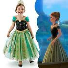 Disney Frozen Princess Anna Girls Kids Dress Skirt Cosplay Costume 3T-10T, Elsa