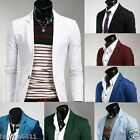 8 colors Stylish Men's Casual Slim fit One Button Suit Blazer Coat Jackets