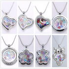 fashion Floating Living memory sliver 8 style Locket + 1p Charm+12p stone+chain