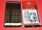 Graphite Sketching Pencils In 12 Different Hardnesses Metal Box