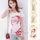 Cute Girl Women Ladies Chiffon Summer Cami Casual Loose Top Blouse Shirt
