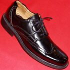 NEW Men's CROFT & BARROW HOFFMAN Black Wingtip Leather Oxfords Dress Formal Shoe