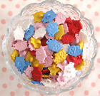 PACK OF 6 WHITE, PINK, BLUE, YELLOW 17MM PLASTIC RETRO WISE OWL SHANK BUTTONS