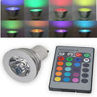 3W 16 Color Changing RGB LED Light Bulb GU10 RGB Lamp 85-265V+IR Remote Control