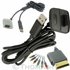 For Xbox 360 4M HD RCA Component Audio Video Optical Cable & Xbox Charger Cable