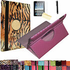 kindle fire HD HDX 8.9 Rotating PU Leather Stand Cover Case FREE Protector Pen