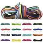 40 Colors 1M Korean Faux Suede Cord Thread Wire String Rope 3x1.5mm Findings