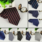 new skinny mens business wedding solid plain necktie striped color tie 10 colors