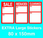 Extra Large Display Stand Point Of Sale Retail Price Stickers Sticky Tags Labels