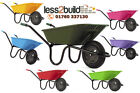 90ltr Plastic Wheelbarrow BARROW Yellow Pink Lilac Green Blue Red Lime Haemmelin