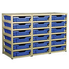 Gratnells 18 Tray Storage Units Office School Furniture Cupboard Drawers Nursery