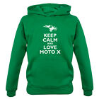 Keep Calm and Love Moto X - Kids / Childrens Hoodie - Motocross - 7 Colours