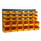 Garage Wall Tool Panel Rack Kit Shelves Part Bins Storage Louvre Organize BiGDUG