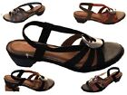 Ladies Sandals Step on Air Vincentia Black Navy Pewter or Taupe Shoe Size 5-10