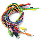 10ft 6ft 3ft Micro V8 USB Durable Braid Cable For Samsung Galaxy S4 S3 HTC Sony