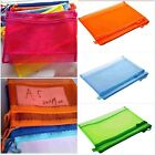 1x Stationery Pencil Case Cosmetic Makeup Zipper Bag School Office Storage Punch