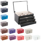 Davidts Euclide Faux Leather Large 3 Draw Jewellery Box