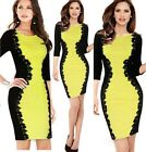 Sexy Women Office Lady Pencil Clubwear Party Cocktail Evening Bodycon Dress