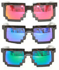 Pixel Sunglasses 8Bit Gamer Nerd Party Glasses Mirror Red Green Blue 357