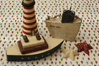 shabby chic East of India Wooden BOATS ship liner Annie May country rustic charm