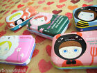 kawaii MARGUERITE Animal Faces trinket  keepsakes buttons charms mini metal box