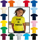 FRUIT OF THE LOOM FOTL Kids/Childrens Valueweight T-shirt All Ages PERSONALISE!