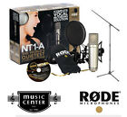RODE NT1-A Condenser Mic Bundle, Mic Stand,  Shock Mount, Pop Shield & MORE NT1A