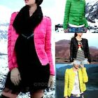 Fashion Down Coat Winter Outerwear Clothes Women Casual Solid Short Jacket Coat