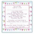 Summer Winter BUNTING  WEDDING INVITATION INVITE STATIONERY flat chunky square